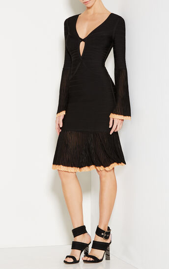 Rinnaa Pointelle Trim Bandage Dress