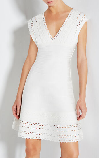 Karolina Cutout Bandage Flare Dress