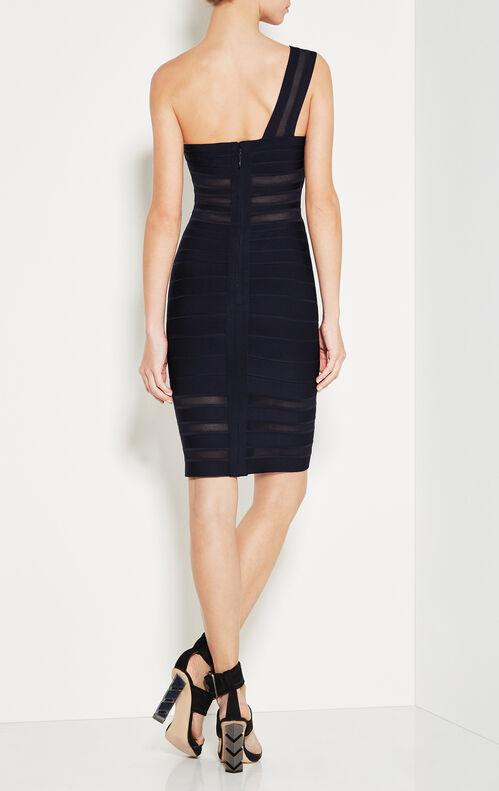 Lara Mesh Inset One-Shoulder Bandage Dress