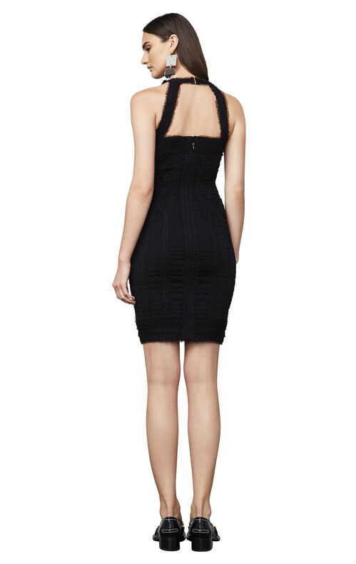 Linden Zigzag Tulle Cutout Body-Con Dress