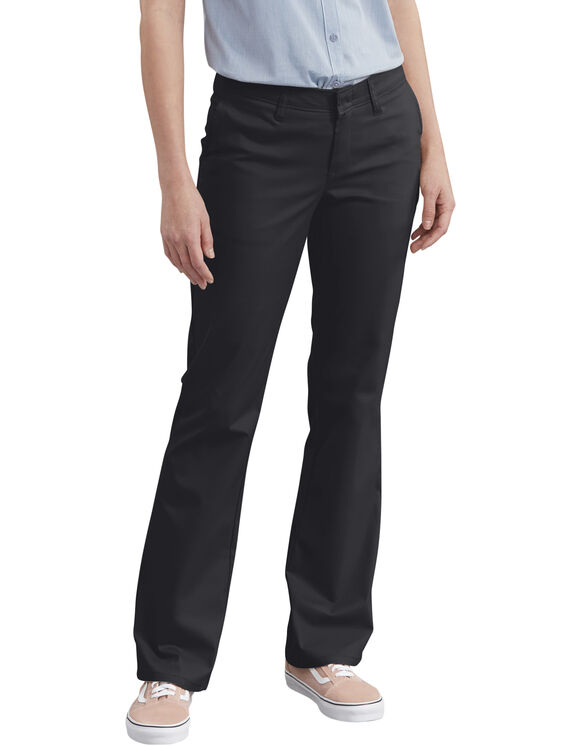 Women's Slim Fit Boot Cut Stretch Twill Pant