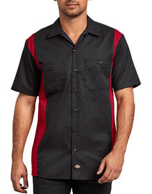 Two-Tone Short Sleeve Work Shirt