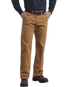 Relaxed Fit Straight Leg Double Front Duck Work Pant - RINSED BROWN DUCK (RBD)