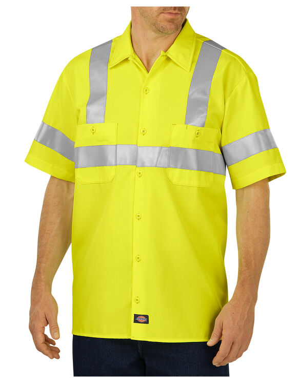 High visibility ansi class 2 short sleeve work shirt for Wholesale high visibility shirts