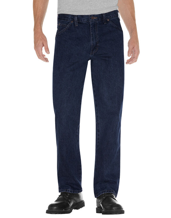 Regular Straight Fit 5-Pocket Denim Jean - RINSED INDIGO BLUE (RNB)
