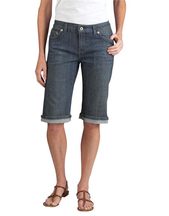 """Women's Slim Fit 13"""" Stretch Denim 5-Pocket Short - ANTIQUE DARK 1 (ATD1)"""