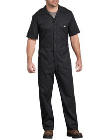 Flex Short Sleeve Coverall - BLACK (BK)