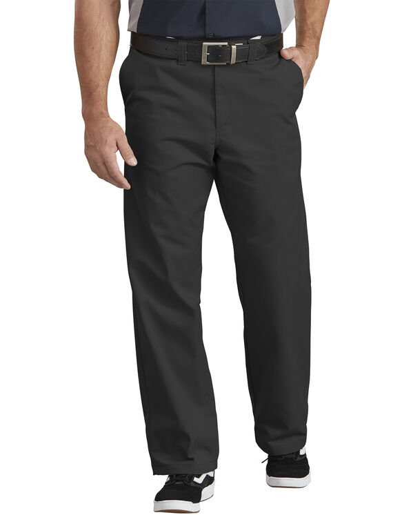 Industrial Flat Front Comfort Waist Pant - BLACK (BK)