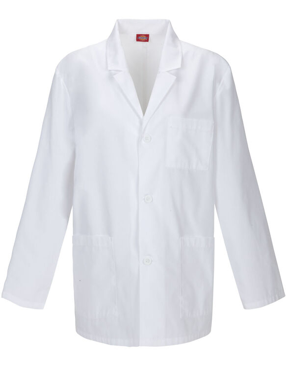 Men's EDS Washed Consultation Lab Coat - DICKIES WHITE-LICENSEE (DWH)