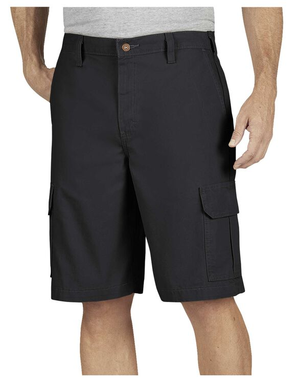 "11"" Relaxed Fit Lightweight Duck Cargo Short - RINSED BLACK (RBK)"