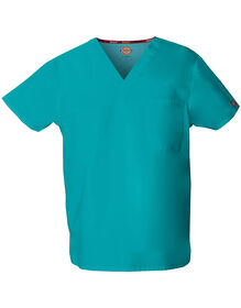 Unisex EDS Signature V-Neck Scrub Top - DICKIES TEAL-LICENSEE (DTL)