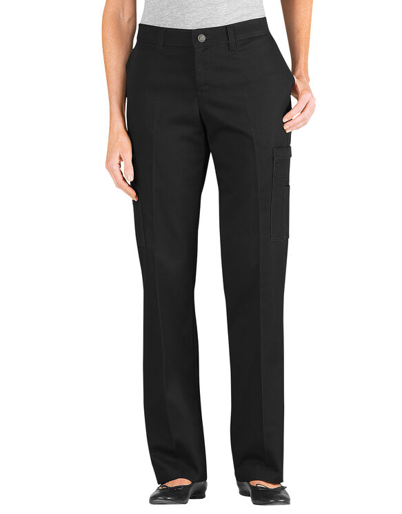New Dickies Misses Midrise Stretch Twill Curvy Fit Pant With Straight Leg Features Contour Waistband With Interlining To Prevent