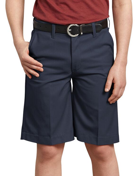 Boys' FlexWaist® Flat Front Short, 8-20 - DARK NAVY (DN)