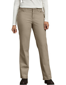 Women's Curvy Fit Straight Leg Stretch Twill Pant - DESERT SAND (DS)