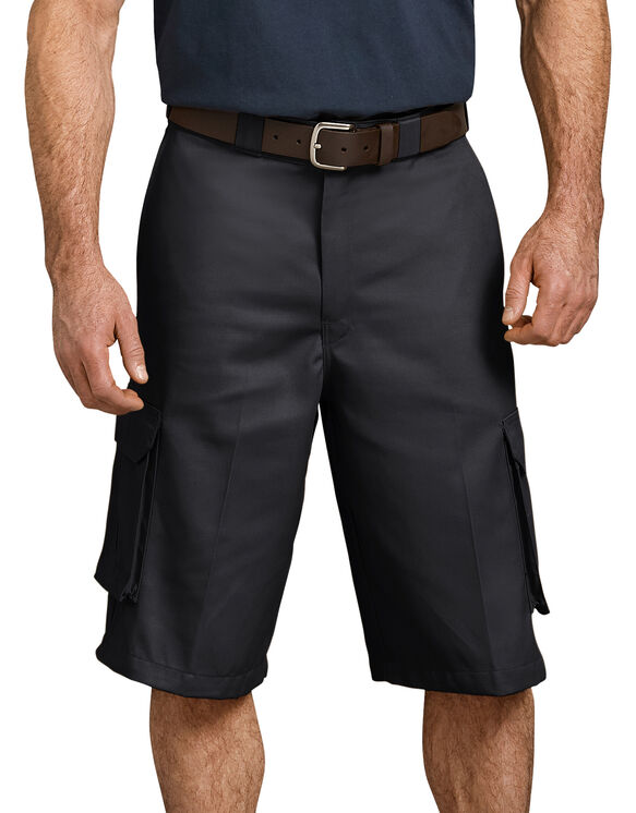 "13"" Loose Fit Cargo Short - BLACK (BK)"
