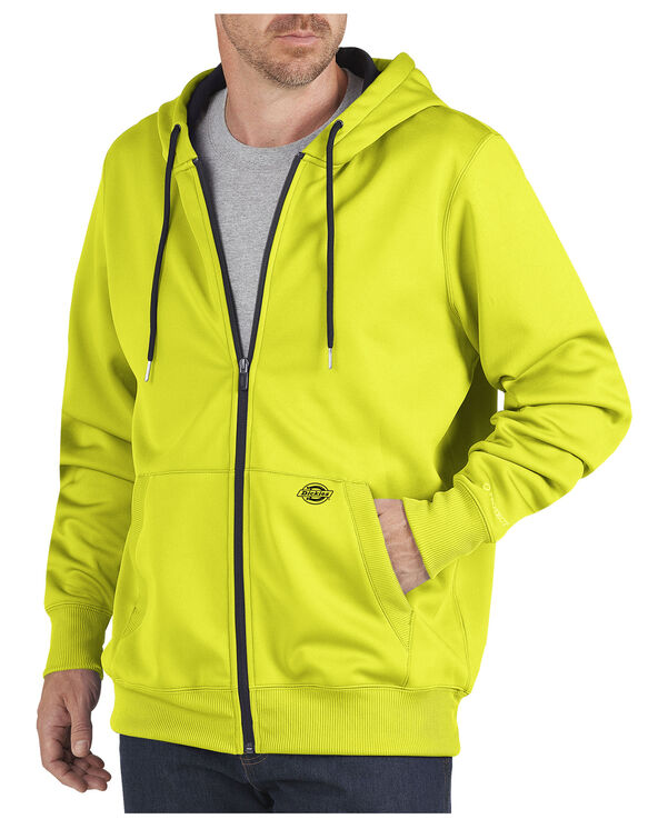 Performance Fleece Full Zip Hoodie - NEON YELLOW (EW)