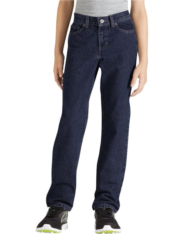 Boys' Slim Fit Straight Leg 6-Pocket Denim Jean, 8-20