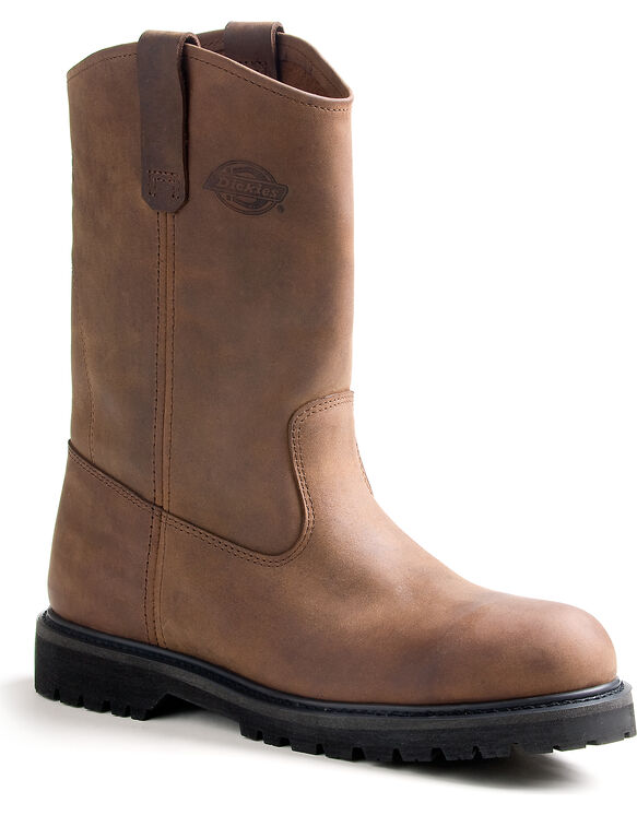 Men's Rogue Wellington Work Boots - CRAZY HORSE BROWN-LICENSEE (FCB)