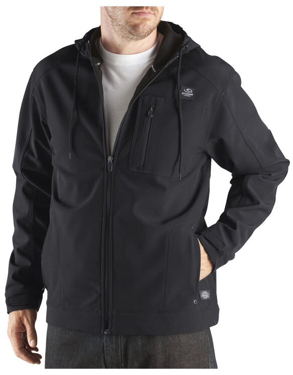 Performance Softshell Hooded Jacket - BLACK (BK)