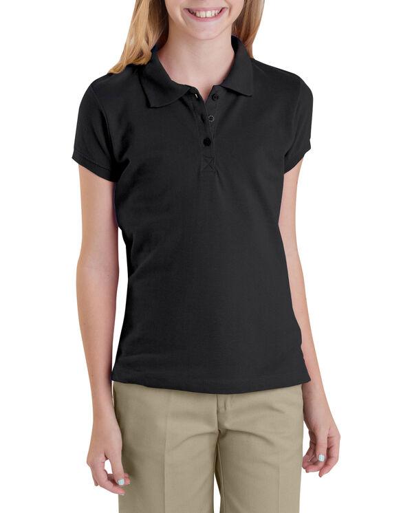 Girls' Short Sleeve Pique Polo Shirt