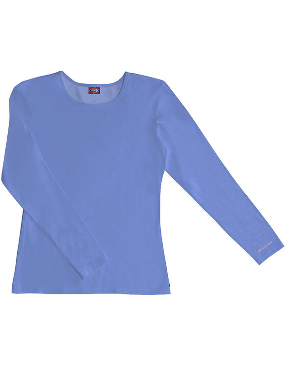 Women's EDS Silky Long Sleeve Crew Neck Tee - CEIL BLUE-LICENSEE (CBL)