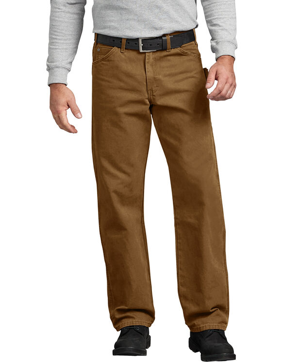 Relaxed Fit Straight Leg Sanded Duck Carpenter Jean - RINSED BROWN DUCK (RBD)