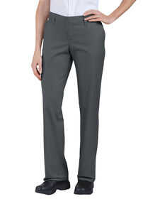 Women's Premium Relaxed Straight Flat Front Pant - CHARCOAL (CH)