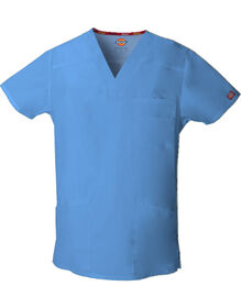 Men's EDS Signature V-Neck Scrub Top - CEIL BLUE-LICENSEE (CBL)