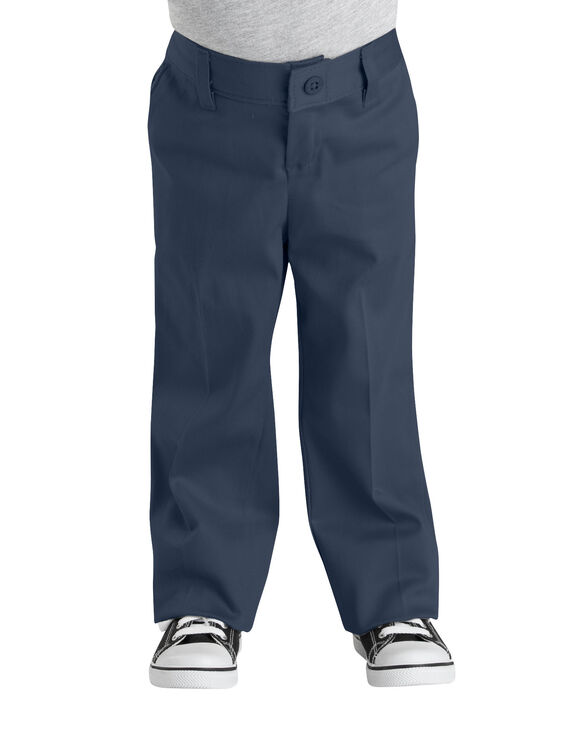 Girls' Classic Fit Straight Leg Stretch Twill Pant, 4-6 - DARK NAVY (DN)