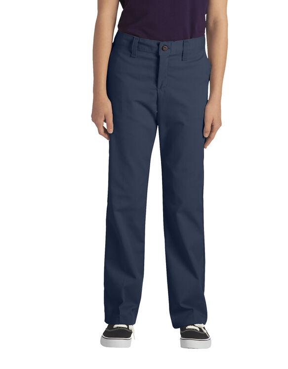 Juniors Schoolwear Classic Fit Straight Leg Stretch Twill Pant - DARK NAVY (DN)