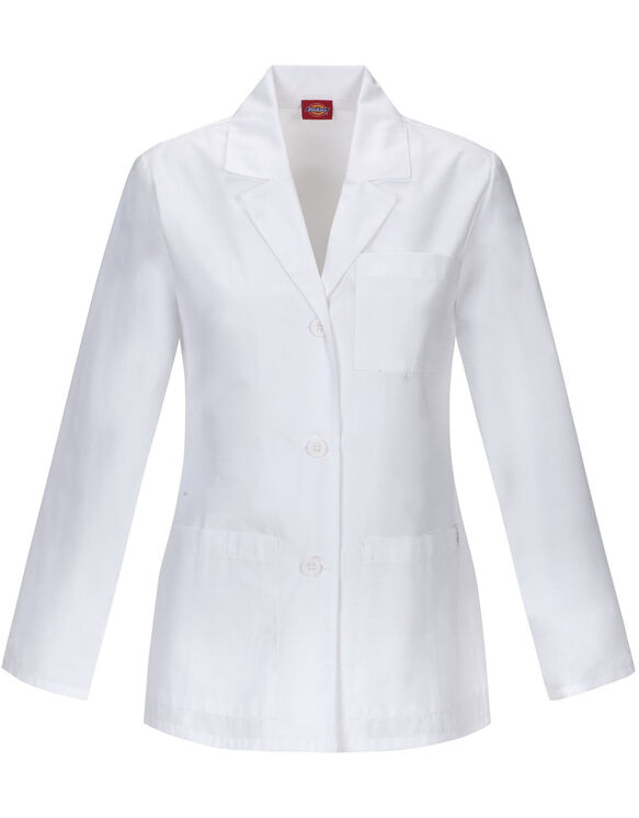 "Women's EDS 28"" Lab Coat - DICKIES WHITE-LICENSEE (DWH)"