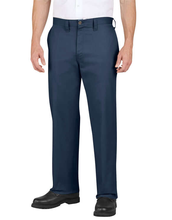 Industrial Cotton Flat Front Pant - DARK NAVY (DN)