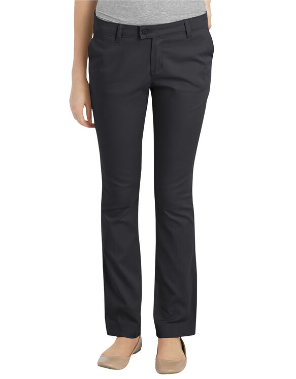 Juniors Schoolwear Slim Fit Straight Leg Stretch Pant - BLACK (BK)