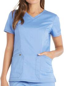 Women's Essence V-Neck Scrub Top - CEIL BLUE-LICENSEE (CBL)