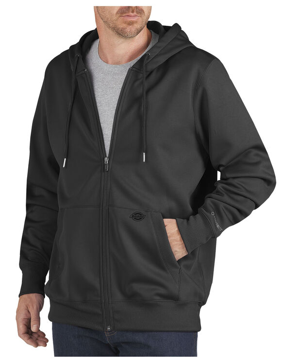 Performance Fleece Full Zip Hoodie - BLACK (BK)