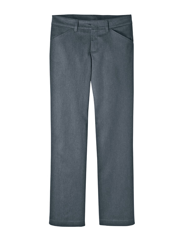 Women's Relaxed Fit Heathered Trouser - DARK CHARCOAL HEATHER (DCH)