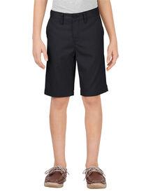 Boys' Flex Slim Fit Ultimate Khaki Short, 8-20 - BLACK (BK)
