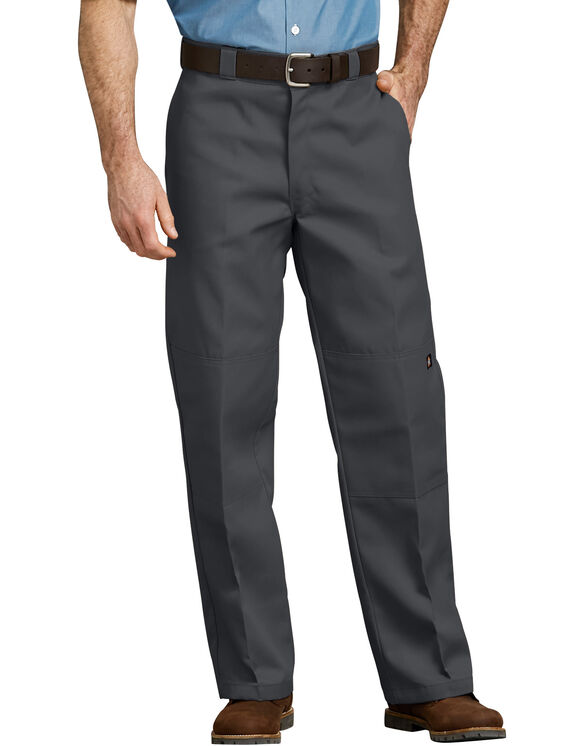 Loose Fit Double Knee Work Pant - CHARCOAL (CH)