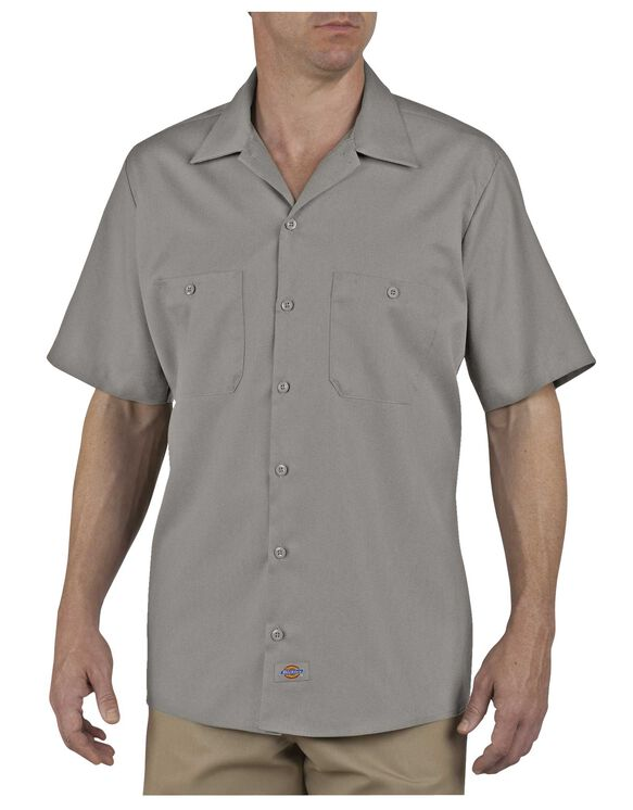 Industrial Patterned Short Sleeve Shirt