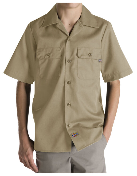 Boys' Twill Short Sleeve Shirt, 6-20 - DESERT SAND (DS)