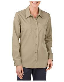 Women's Industrial Long Sleeve Work Shirt - DESERT SAND (DS)