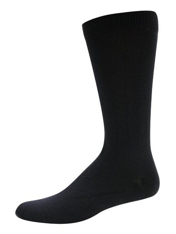 Microfiber Nylon Crew Socks w/ Massage Bars, 3-Pack - NAVY (NV)