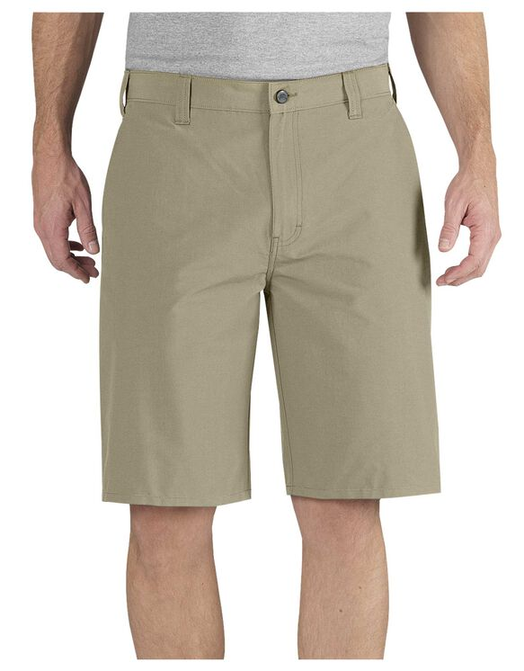 "Performance 11"" Relaxed Fit Flat Front Short - DESERT SAND (DS)"