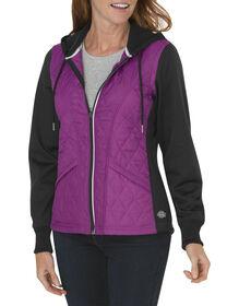 Women's Performance Work Tech Fleece Puffer Jacket - PINK BERRY (IB)