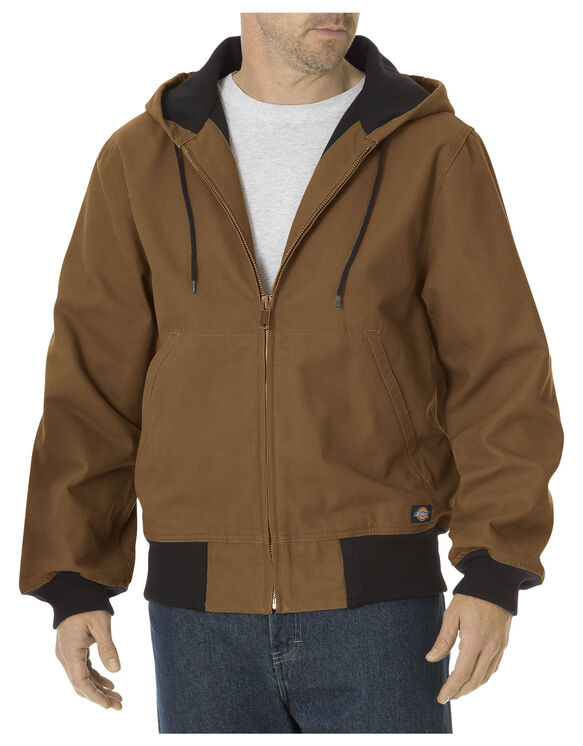Sanded Duck Thermal Lined Hooded Jacket - BROWN DUCK (BD)