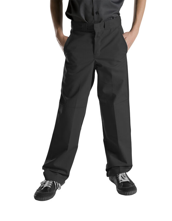 Boys' Relaxed Fit Straight Leg Double Knee Pant, 8-20