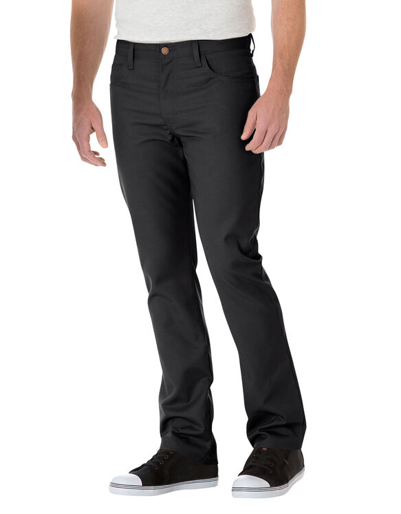 Slim Straight 5-Pocket Twill Work Pant - BLACK (BK)