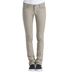 Dickies Girl Juniors Classic Fit Skinny Leg 5-Pocket Pant - KHAKI-LICENSEE (KHA)