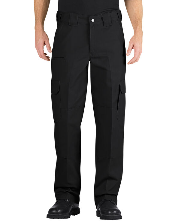 Tactical Relaxed Fit Straight Leg Canvas Pant - BLACK (BK)