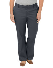 Women's Premium Relaxed Straight Flat Front Pant (Plus) - DOW CHARCOAL (DC)